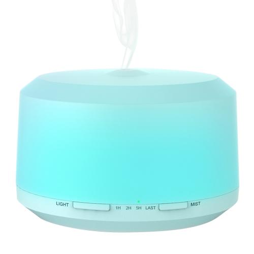 450ml Essential Oil Diffuser, BAXIA TECHNOLOGY Aromatherapy Oil Diffuser Ultrasonic Humidifier with 4 Timer Setting, 8 LED Color Moon Light and Waterless Auto Shut-off